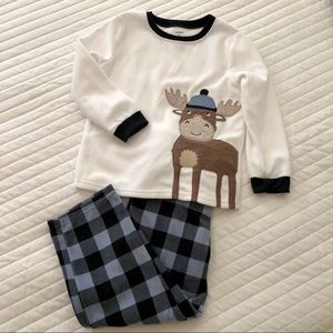 Carter's 2 Piece Fleece Moose Pajamas